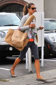 Brazilian model, Alessandra Ambrosio, runs errands in workout attire- Found on modelcandids.com