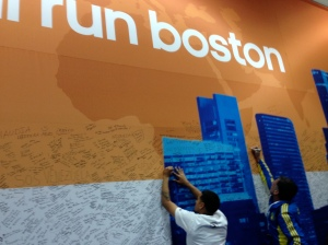 everyone signed these Boston walls