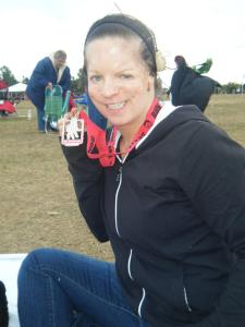 Never been so happy to finish a race- It may only have been a 5k, but I hate zombies!